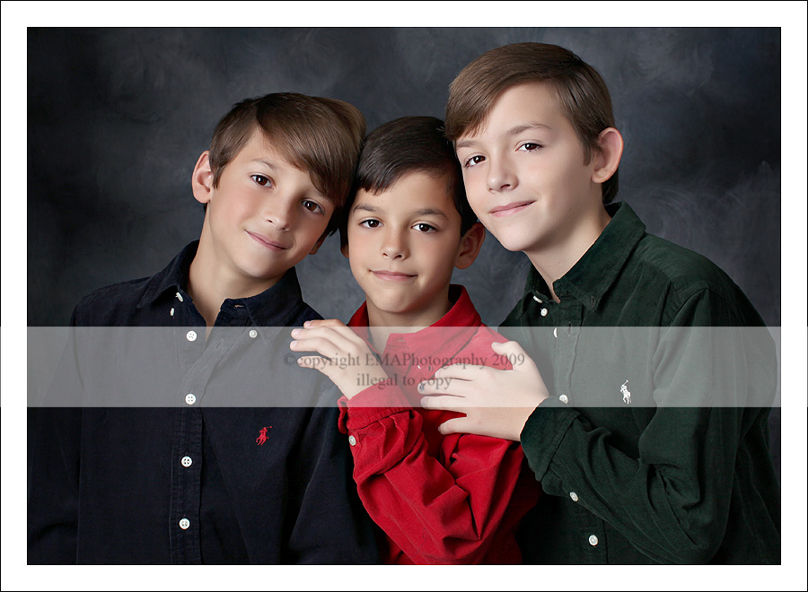 NJ Children&#039;s Photographer, NJ Photographer, New Jersey Photography, Holiday Portraits, Triplets, South Jersey Multiples Photographer,  Twins Photographer,   Holiday 2009,  Holiday Photos